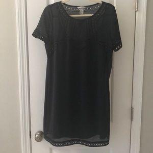 Navy shirt dress